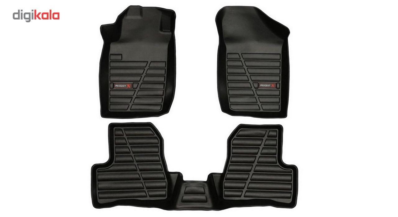 کفپوش سه بعدی خودرو لاستیک گیلان مناسب برای پژو 206 main 1 4