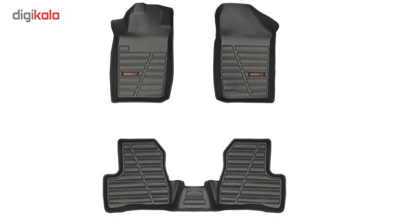 کفپوش سه بعدی خودرو لاستیک گیلان مناسب برای پژو 206 main 1 7