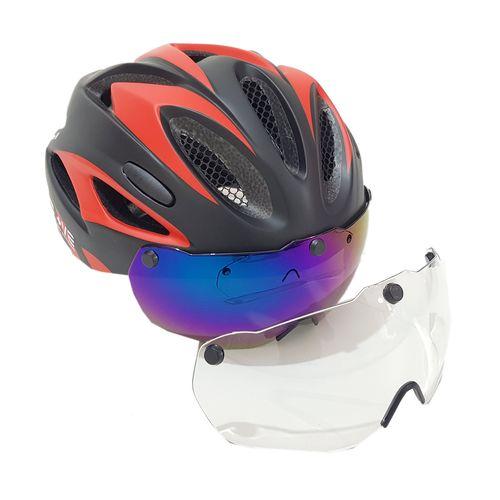 کلاه ایمنی اسکیت و دوچرخه سواری همراه با 2 عدد عینک لنز مگنتی be pluse مدل k112