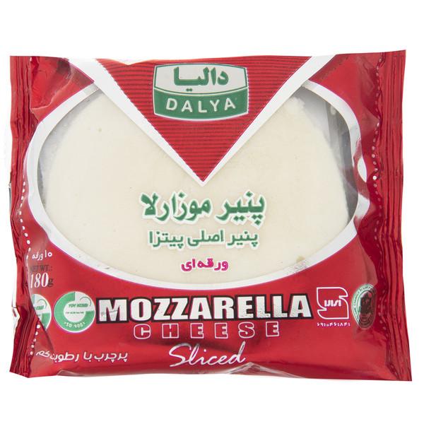 پنیر پیتزا موزارلا ورقه ای پرچرب دالیا مقدار 180 گرم