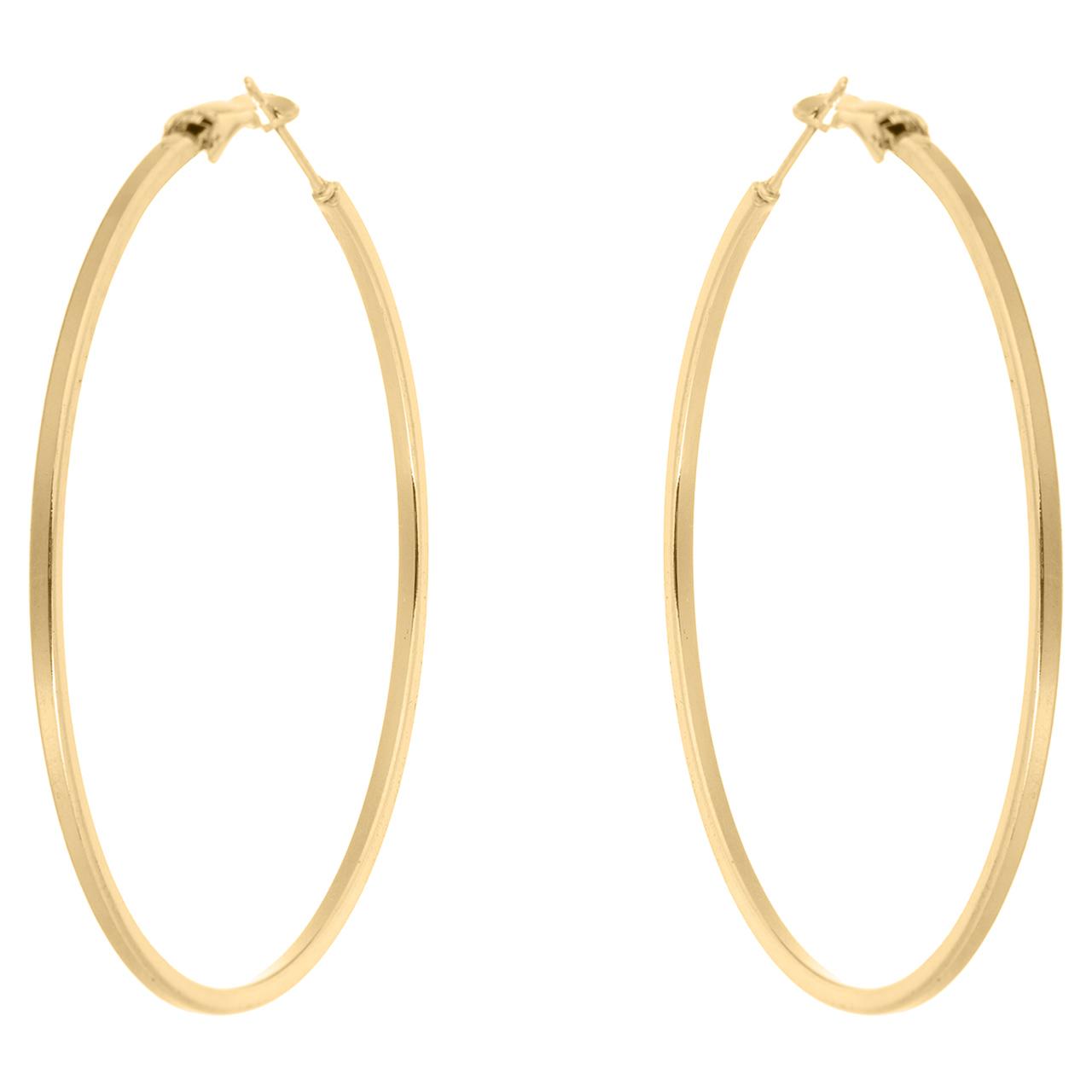 قیمت گوشواره حلقه ای استیل مارنا گالری مدل Big Gold