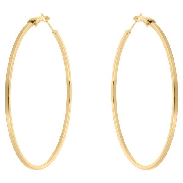 گوشواره حلقه ای استیل مارنا گالری مدل Big Gold