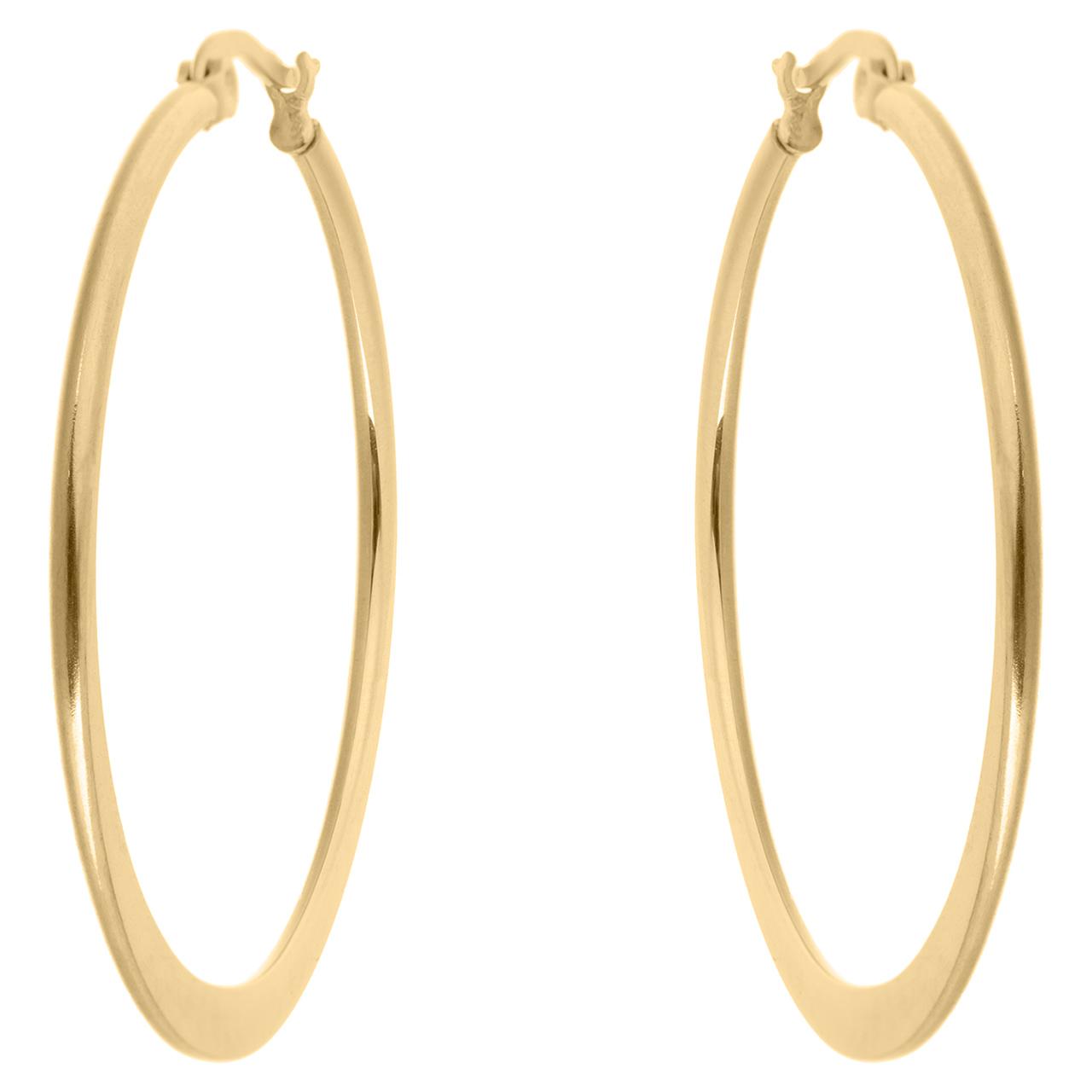 قیمت گوشواره حلقه ای استیل مارنا گالری مدل Gold