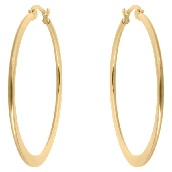 گوشواره حلقه ای استیل مارنا گالری مدل Gold