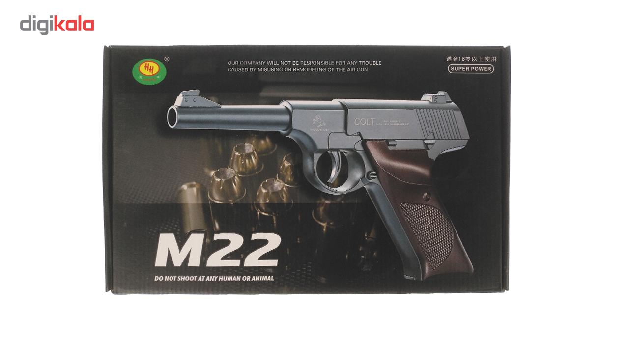 خرید                                     تفنگ بازی مدل کلت فلزی M22