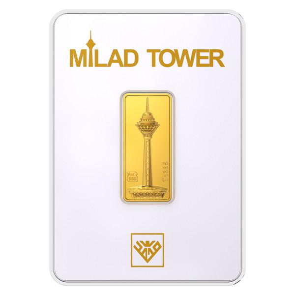 پلاک طلای 24 عیار طلای محمد مدل برج میلاد SH