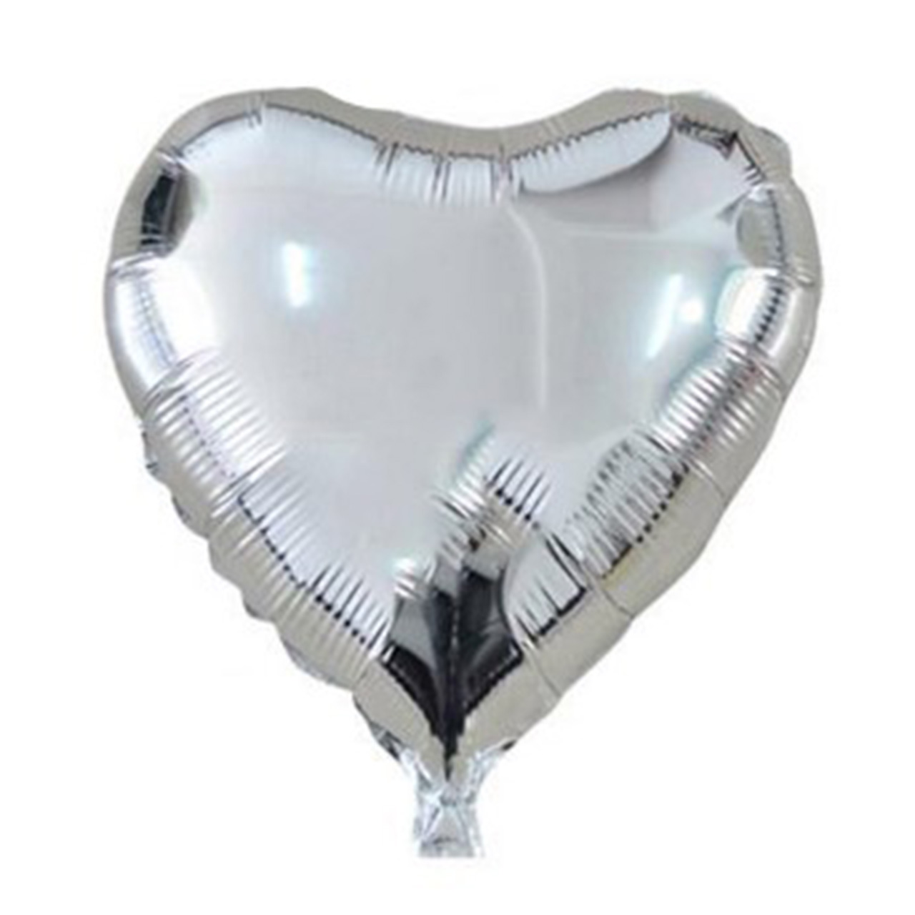 بادکنک فویلی مدل قلب نقره ای 18 اینچ سایز 120