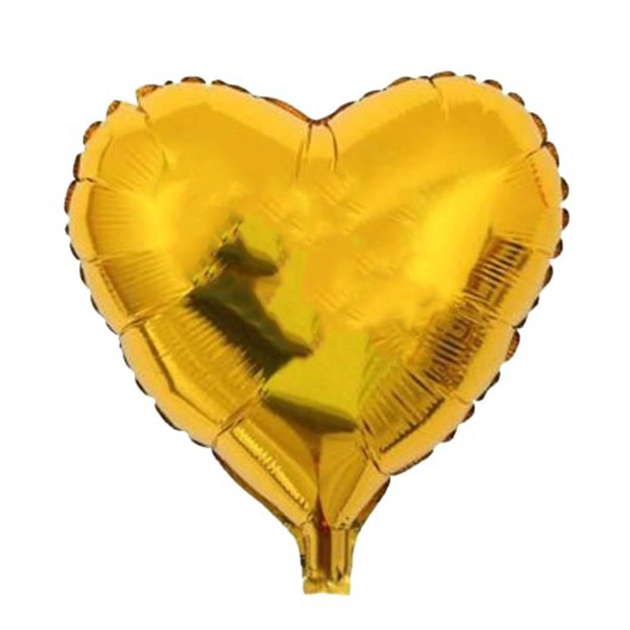بادکنک فویلی مدل قلب طلایی سایز 120