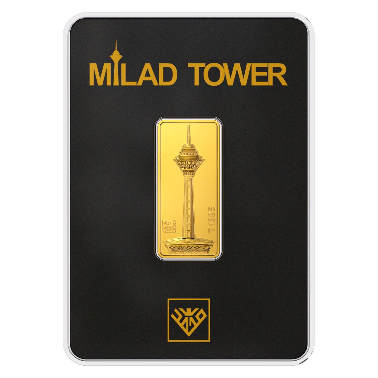 قیمت پلاک طلای 24 عیار طلای محمد مدل برج میلاد B