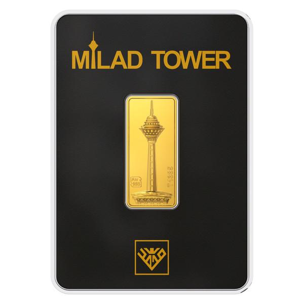 پلاک طلای 24 عیار طلای محمد مدل برج میلاد B