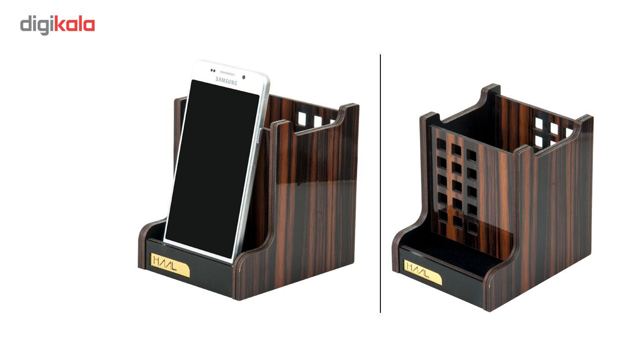 مجموعه لوازم اداری رومیزی 5 تکه حال مدل آبنوس