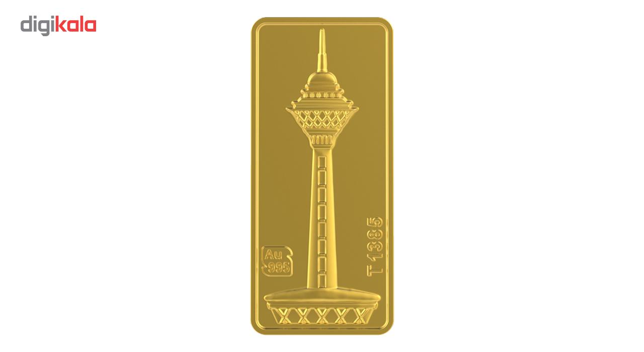 خرید                                     شمش طلا 24 عیار طلای محمد مدل برج میلاد B