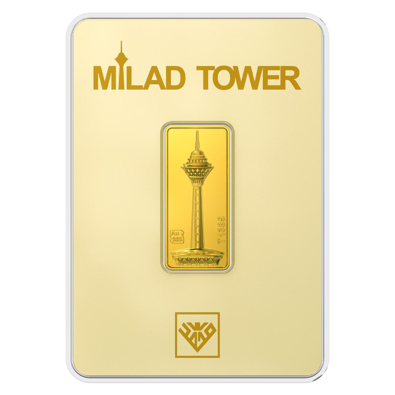 قیمت پلاک طلای 24 عیار طلای محمد مدل برج میلاد BE