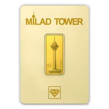 پلاک طلای 24 عیار طلای محمد مدل برج میلاد BE