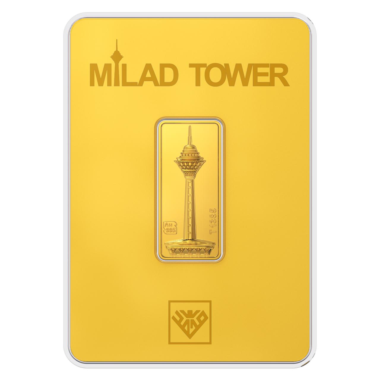 قیمت پلاک طلای 24 عیار طلای محمد مدل برج میلاد G