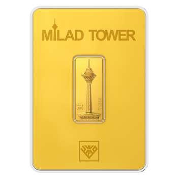 پلاک طلای 24 عیار طلای محمد مدل برج میلاد G