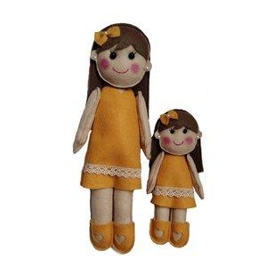 عروسک نمدی طرح مادر دختری کد 203