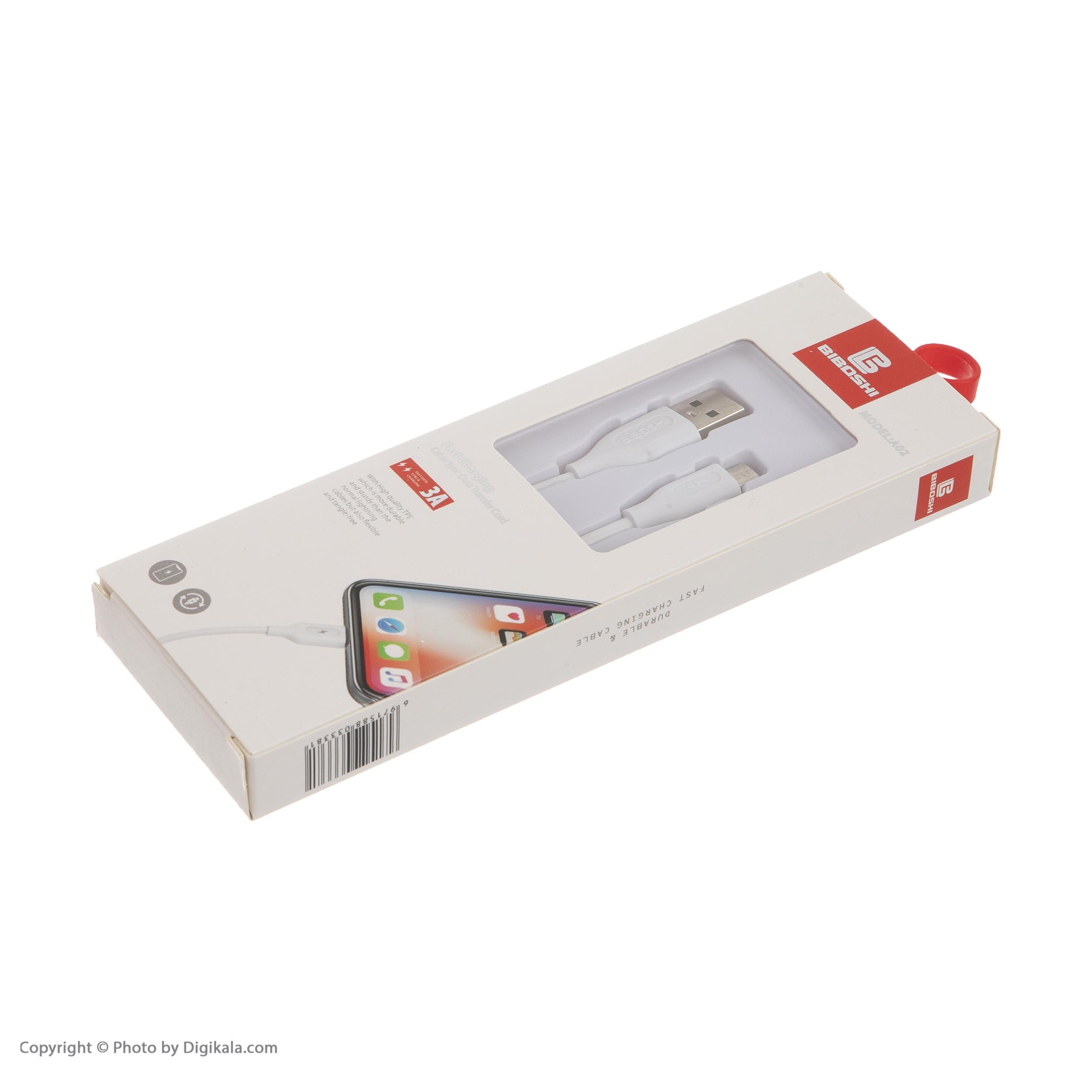 کابل تبدیل USB به microUSB بیبوشی مدل A02 طول 1 متر