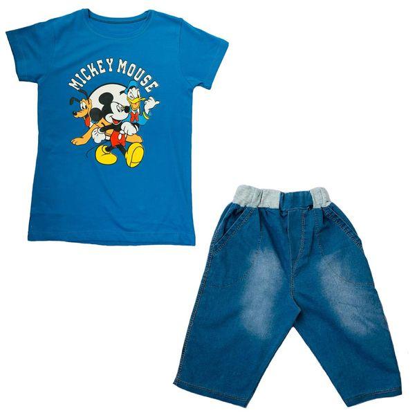ست تی شرت و شلوارک پسرانه مدل Mickey