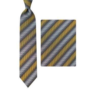 ست کراوات و دستمال جیب مردانه مدل GF-ST1473-BR