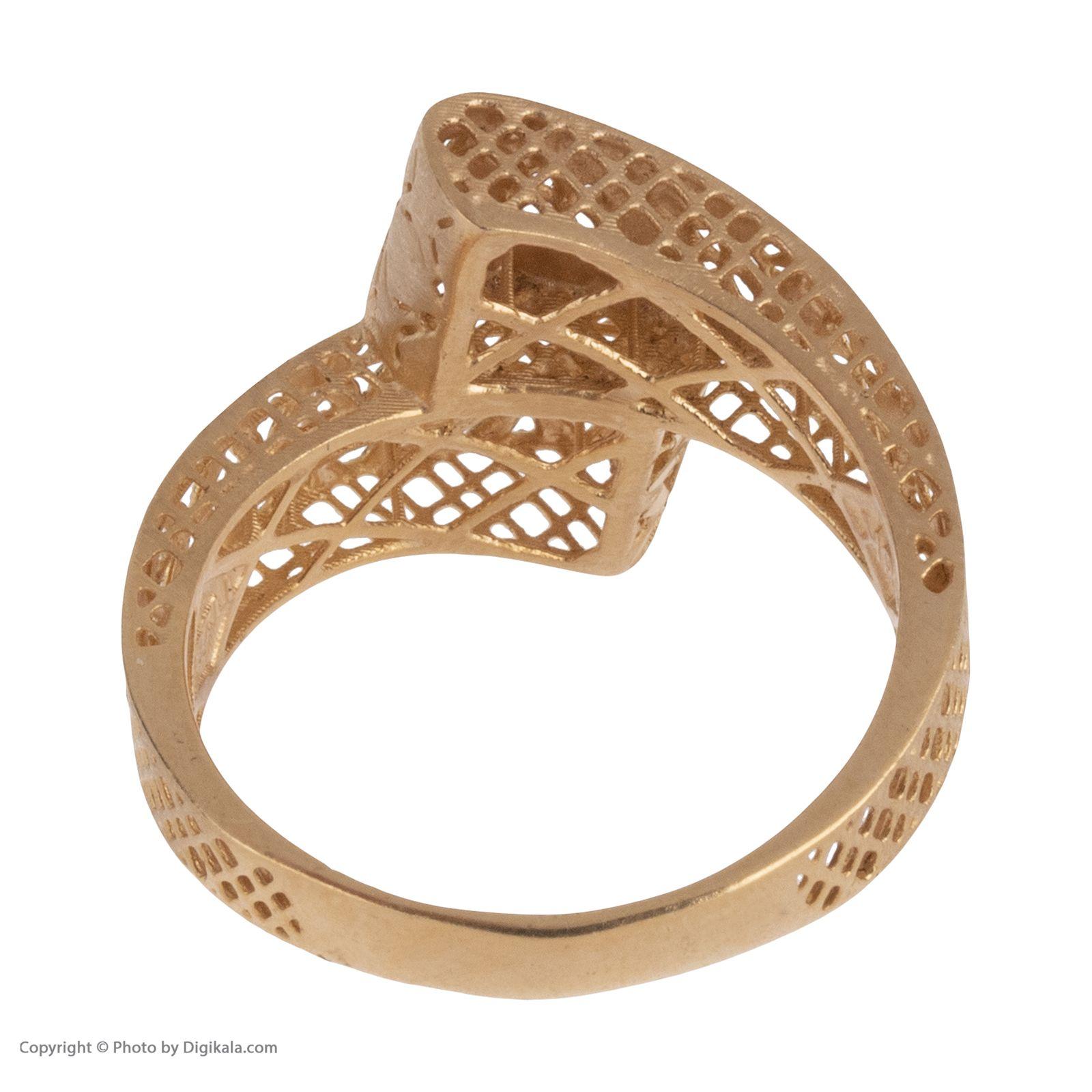 انگشتر طلا 18 عیار زنانه مایا ماهک مدل MR0379 -  - 5