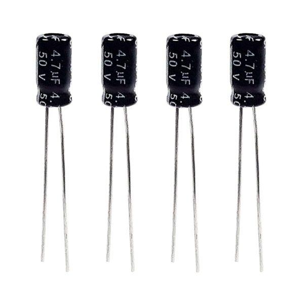 خازن الکترولیت 4.7 میکروفاراد 50 ولت مدل TEC-3337 بسته 4 عددی