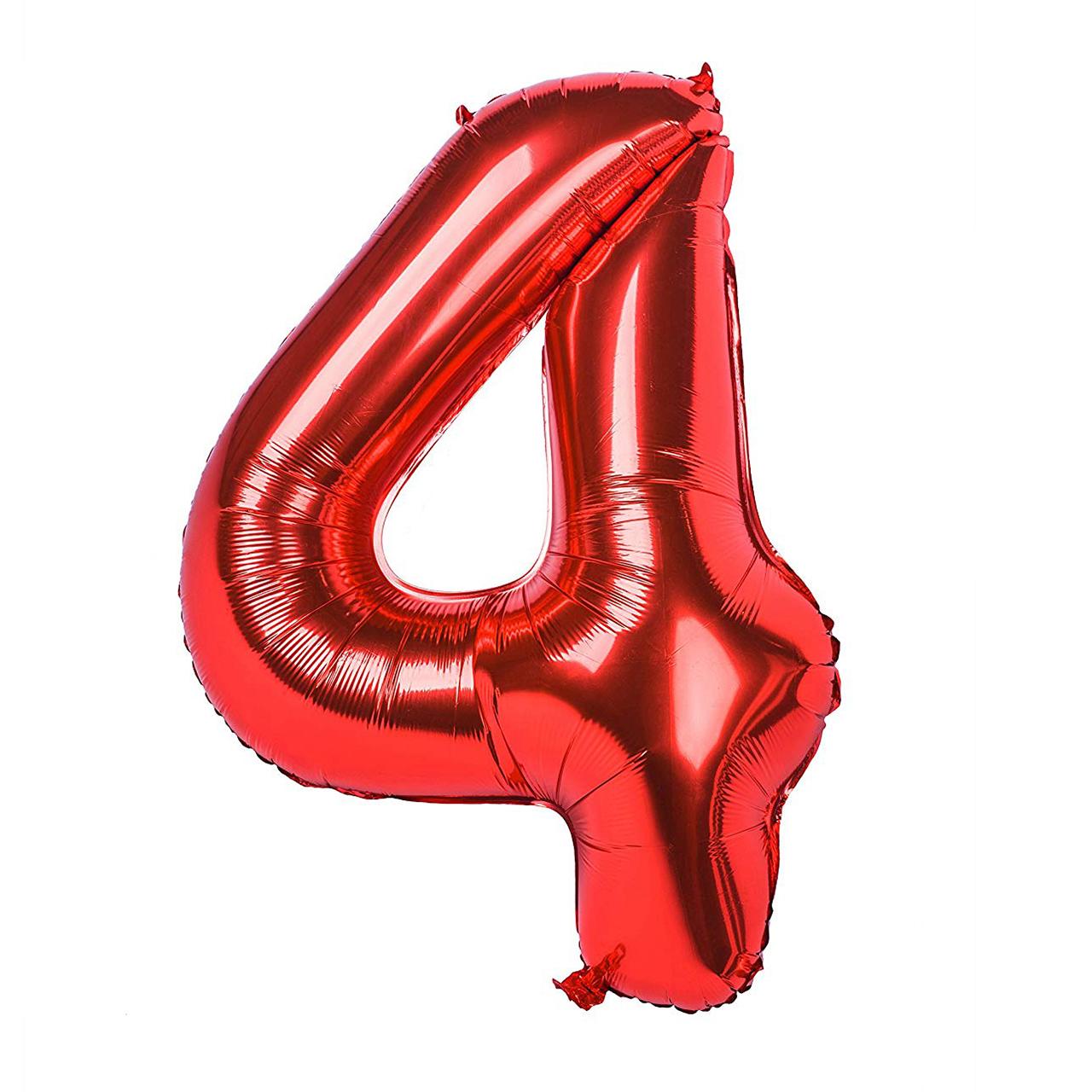 بادکنک فویلی عدد 4  هپی بری قرمز سایز 32 اینچ