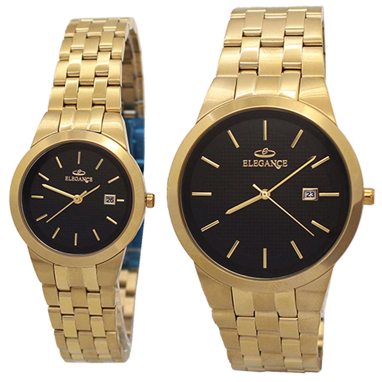 ساعت ست مردانه و زنانه الگانس مدل R1162G کد SU-0008