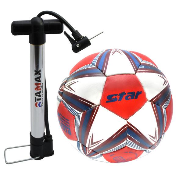 توپ فوتبال استار مدل Sb5175 به همراه یک عدد تلمبه سایز 5
