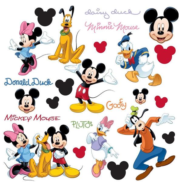 استیکر رومیت مدل Mickey And Friends Appliques