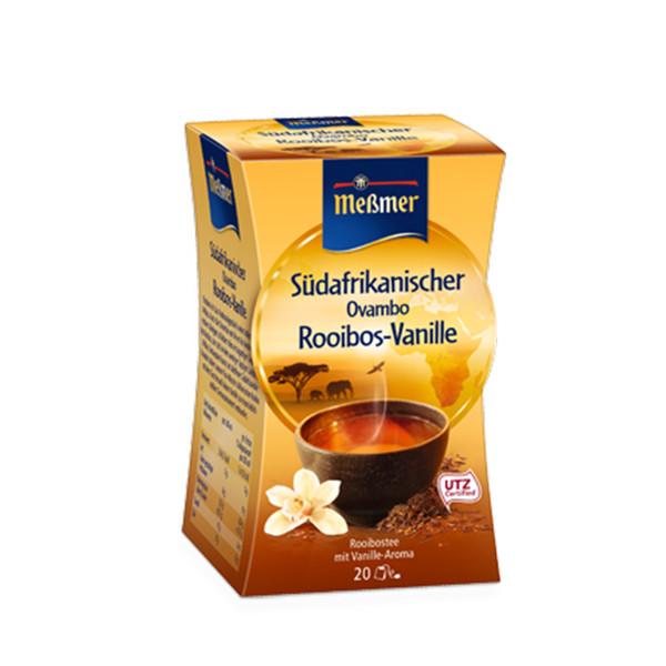 دمنوش آلمانی رویبوس وانیل مسمر مدل Rooibos Vanille بسته 20 عددی