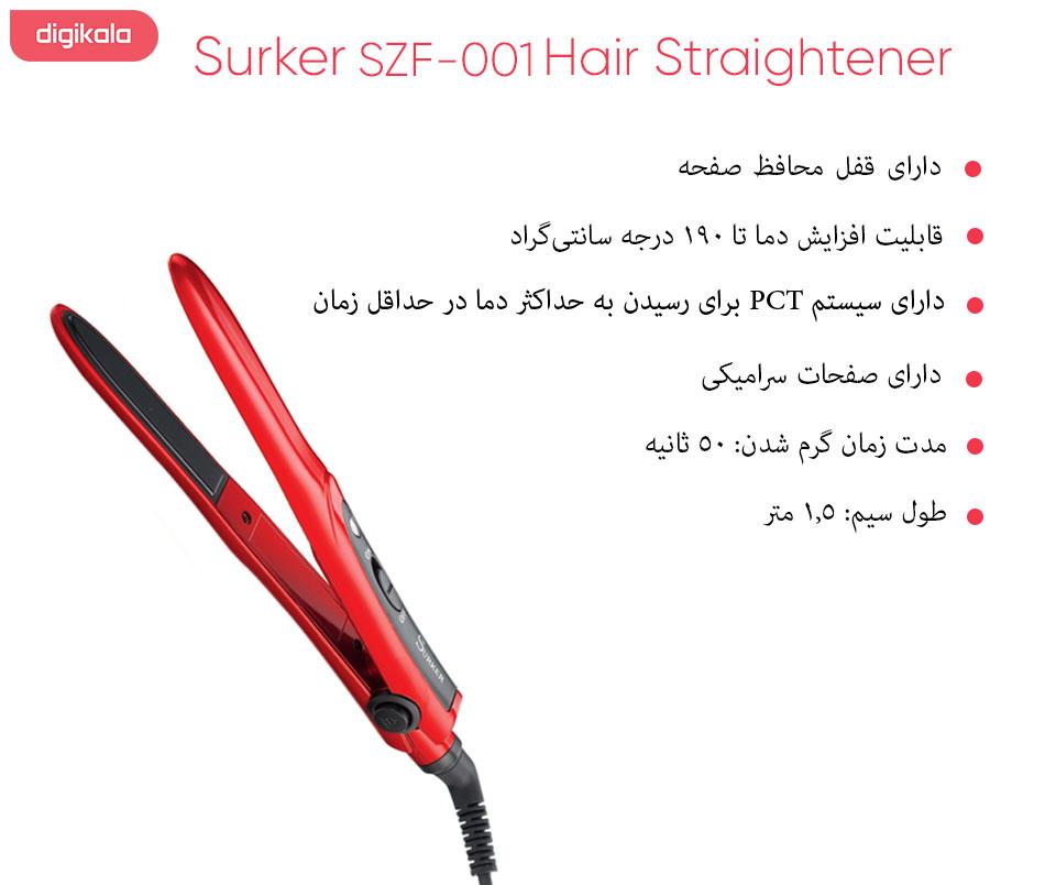 اتو مو سورکر مدل SZF-001 infographic