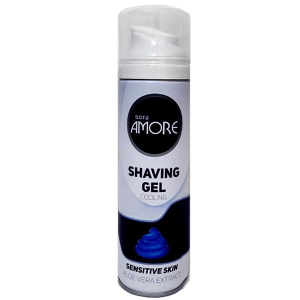 ژل اصلاح مردانه سورا آمور مدل Sensitive Skin حجم 200 میلی لیتر
