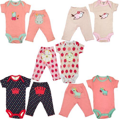 ست لباس نوزادی کارترز مدل 10050-2 مجموعه 10عددی