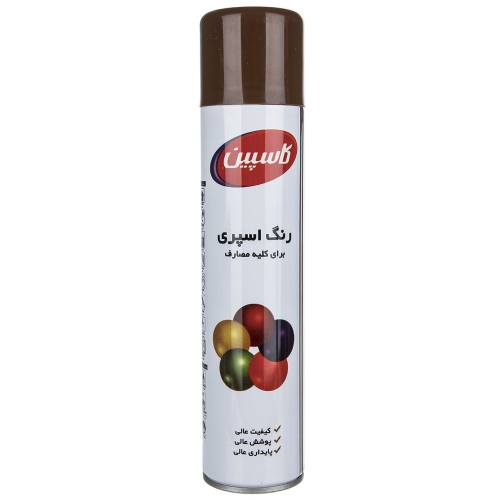 اسپری رنگ قهوه ای شکلاتی کاسپین وزن 295 گرم