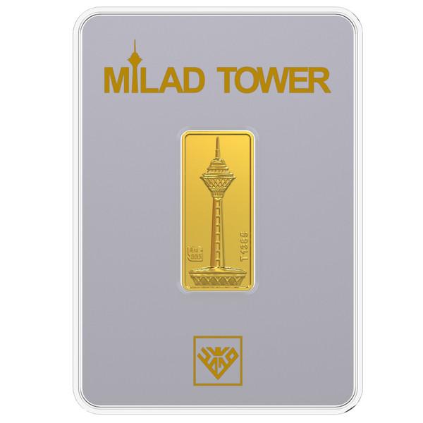 شمش طلا 24 عیار طلای محمد مدل برج میلاد S
