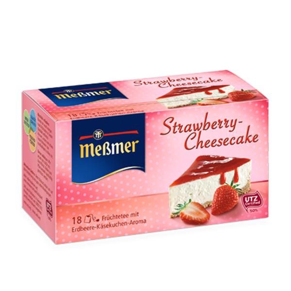 دمنوش آلمانی چیزکیک توت فرنگی مسمر مدل Strawberry Cheesecake بسته 18 عددی