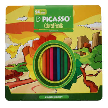 مداد رنگی 24 رنگ پیکاسو مدل فلزی