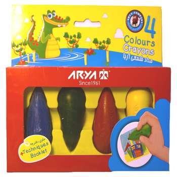 مدادشمعی 4 رنگ آریا مدل مخروطی