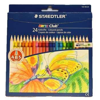 مداد رنگی 24 تایی استدلر مدل مقوایی