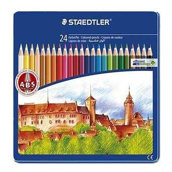 مداد رنگی 24 رنگ استدلر مدل فلزی