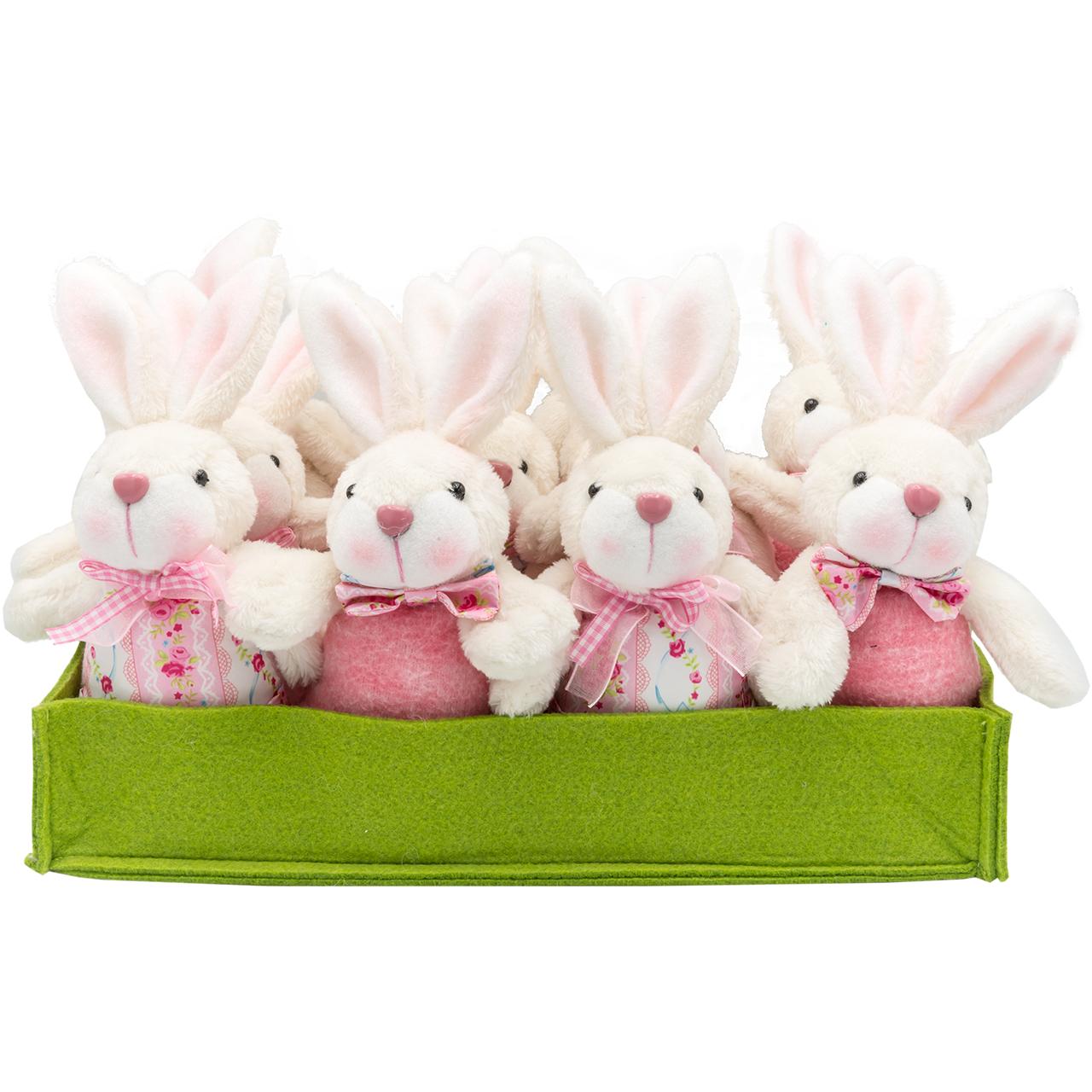 ست عروسک مدل Mrs and Mr Rabbit ارتفاع 20 سانتی متر بسته 12 عددی