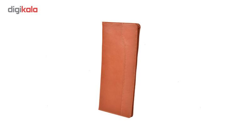 کیف دسته چک چرم طبیعی کهن چرم مدل CH1-1