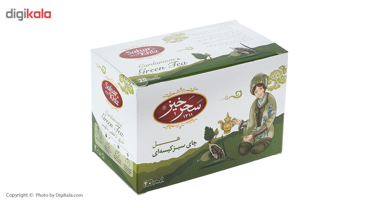 چای سبز کیسهای هل سحرخیز بسته 20 عددی main 1 1
