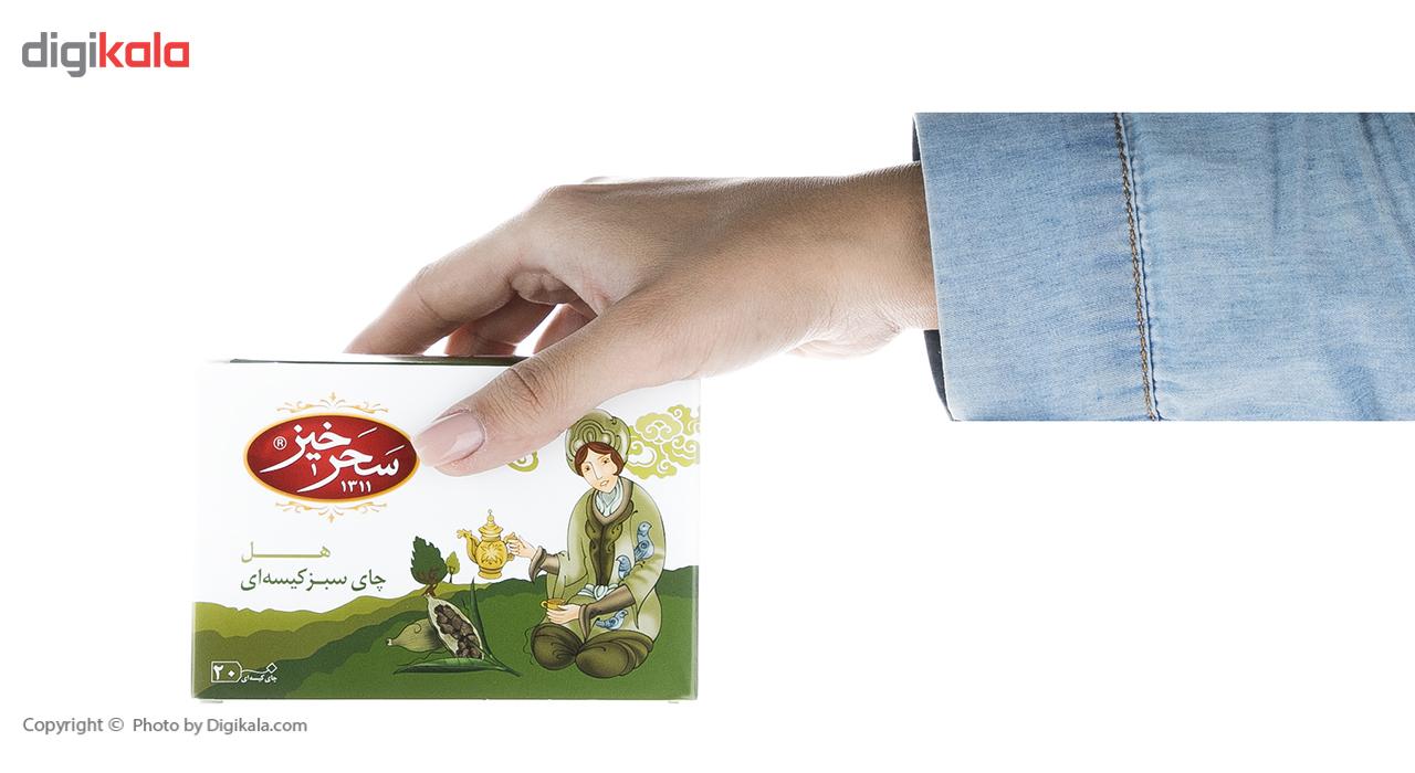 چای سبز کیسهای هل سحرخیز بسته 20 عددی main 1 4