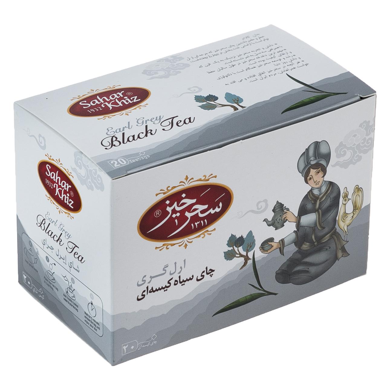 چای سیاه کیسهای ارل گری سحرخیز بسته 20 عددی