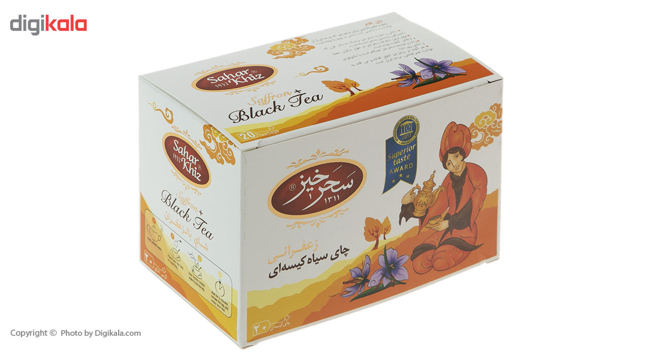 چای سیاه کیسهای زعفرانی سحرخیز بسته 20 عددی main 1 1