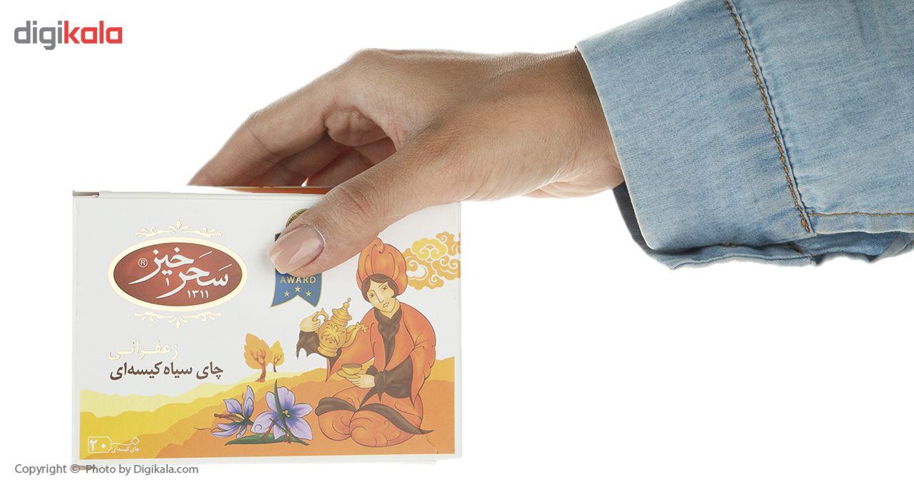 چای سیاه کیسهای زعفرانی سحرخیز بسته 20 عددی main 1 4