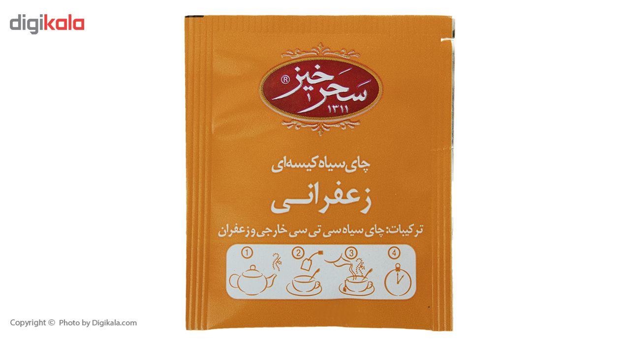 چای سیاه کیسهای زعفرانی سحرخیز بسته 20 عددی main 1 6