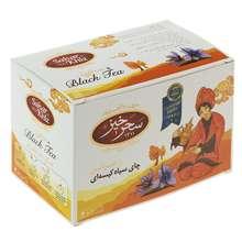 چای سیاه کیسهای زعفرانی سحرخیز بسته 20 عددی